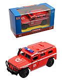 Инерционная машинка «Пожарная охрана», 6408F