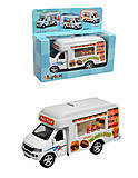 Коллекционная машинка грузовик Fast Food Truck, KS5257W, купить