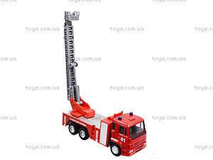 Игрушечная машинка «Пожарная служба», 6514AB, детский