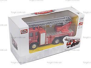 Игрушечная машинка «Пожарная служба», 6514AB, Украина