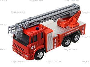 Игрушечная машинка «Пожарная служба», 6514AB, toys.com.ua