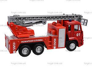 Игрушечная машинка «Пожарная служба», 6514AB, toys