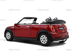 Инерционная машина Mini Cooper S Convertible, KT5089W, магазин игрушек