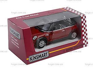 Инерционная машина Mini Cooper S Convertible, KT5089W, toys.com.ua