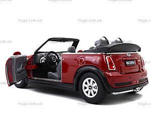 Инерционная машина Mini Cooper S Convertible, KT5089W, toys