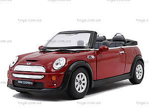 Инерционная машина Mini Cooper S Convertible, KT5089W, детский