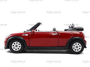 Инерционная машина Mini Cooper S Convertible, KT5089W, Украина