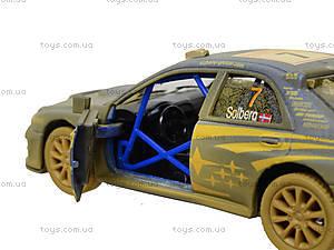 Машина металлическая Subaru Impreza (Muddy), KT5328WY, игрушки
