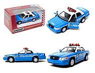 Модель автомобиля Ford Crown Victoria Police, KT5342AW, детские игрушки