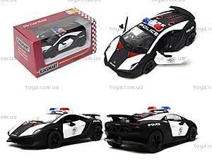 Игрушечная машинка Lamborghini Sesto Elemento Police, KT5359WP