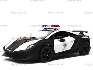 Игрушечная машинка Lamborghini Sesto Elemento Police, KT5359WP, магазин игрушек