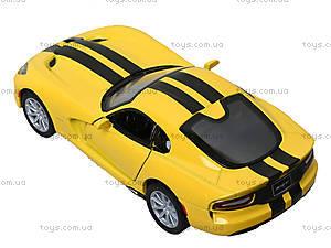 Модель машины Dodge SRT Viper GTS (2013), KT5363FW, игрушки