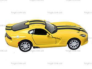Модель машины Dodge SRT Viper GTS (2013), KT5363FW, детские игрушки