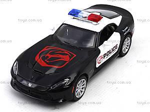 Коллекционная модель Dodge SRT Viper GTS Police, KT5363WP, игрушки
