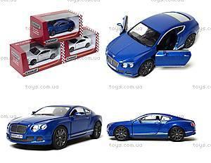 Машина Bentley Continental GT Speed, KT5369W, отзывы