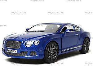 Машина Bentley Continental GT Speed, KT5369W, игрушки