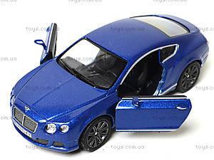 Машина Bentley Continental GT Speed, KT5369W, детские игрушки