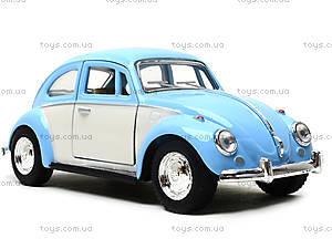 Металлическая инерционная машинка Volkswagen Classical Beetle, KT5375WY, купить