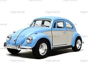 Металлическая инерционная машинка Volkswagen Classical Beetle, KT5375WY, цена