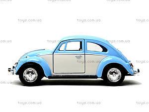 Металлическая инерционная машинка Volkswagen Classical Beetle, KT5375WY, детские игрушки