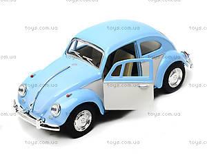 Металлическая инерционная машинка Volkswagen Classical Beetle, KT5375WY, магазин игрушек