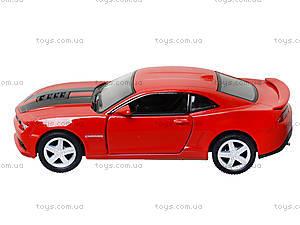 Модель легковая Chevrolet Camaro Pull Back, KT5383FW, детские игрушки