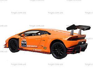 Металлическая модель Lamborghini Huracan-LP620-2 Super Trofeo, KT5389W, игрушки