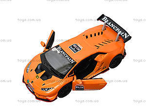 Металлическая модель Lamborghini Huracan-LP620-2 Super Trofeo, KT5389W, детские игрушки