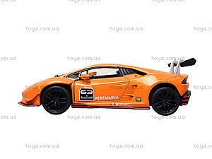 Металлическая модель Lamborghini Huracan-LP620-2 Super Trofeo, KT5389W, магазин игрушек