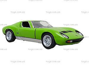 Модель автомобиля Lamborghini Miura P400 SV, KT5390W, игрушки