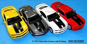 Модель легковая Chevrolet Camaro Pull Back, KT5383FW