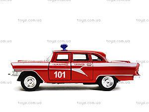 Металлическая пожарная машина «Ретро», 6410C, детские игрушки