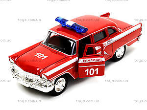Металлическая пожарная машина «Ретро», 6410C, цена