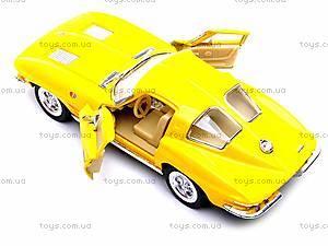 Модель машины CORVETTE STING RAY, KT5358W, детские игрушки