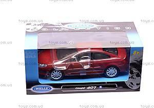 Модель Peugeot 407 Coupe, масштаб 1:24, 22475W, цена