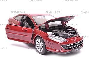 Модель Peugeot 407 Coupe, масштаб 1:24, 22475W, игрушки