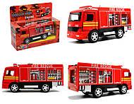 Металлическая модель машины «Пожарная», KS5110W, фото