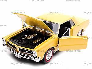Модель Pontiac GTO 1965, 22092W, детские игрушки