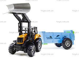 Металлическая модель трактора с прицепом, M6398-1, купить