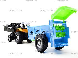 Металлическая модель трактора с прицепом, M6398-1, фото