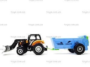 Металлическая модель трактора с прицепом, M6398-1, цена