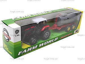 Металлическая модель трактора с прицепом, M6398-1, игрушки