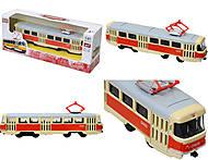Металлическая модель трамвая «Автопром», 6411A, фото