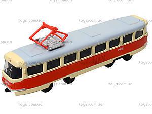 Металлическая модель трамвая «Автопром», 6411ABCD, детские игрушки
