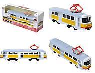 Игрушечный трамвай «Автопарк» с инерционным эффектом, 6411B, отзывы