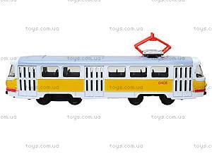 Игрушечный трамвай «Автопарк» со звуковыми эффектами, 6411B, купить