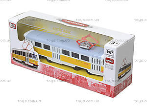 Игрушечный трамвай «Автопарк» со звуковыми эффектами, 6411B, фото