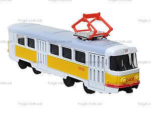 Игрушечный трамвай «Автопарк» со звуковыми эффектами, 6411B, цена