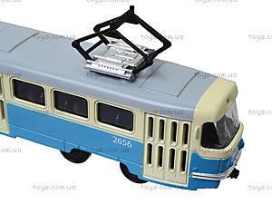 Детская модель трамвая «Автопарк», 6411C, фото