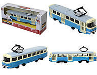 Детская модель трамвая «Автопарк», 6411C, купить